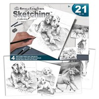 Royal-Brush Pets Sketching Made Easy 21pc Activity Set (4 Projects) (8''x10'')