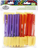Royal-Brush Assorted Sponge Brushes 25pc Value Pack