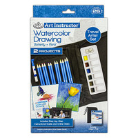 Royal-Brush Watercolor Drawing Travel Set (26 Piece) Drawing Kit #ais-kc301