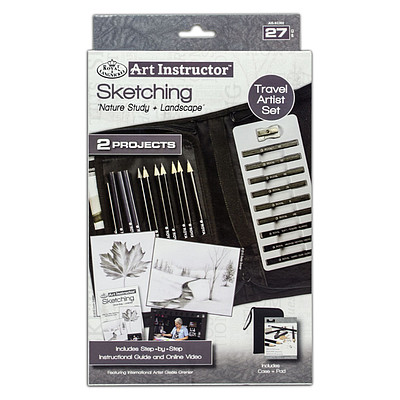 Royal Brush Manufacturing Sketching Travel Set -- Drawing Kit -- #ais-kc302