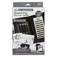Royal-Brush Sketching Travel Set Drawing Kit #ais-kc302