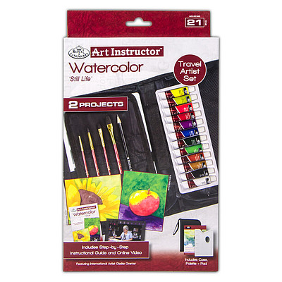 Royal Brush Manufacturing Watercolor Travel Set -- Painting Kit -- #ais-kc305