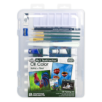 Royal Brush Manufacturing Small Oil Clearview -- Painting Set -- #ais-oil3101