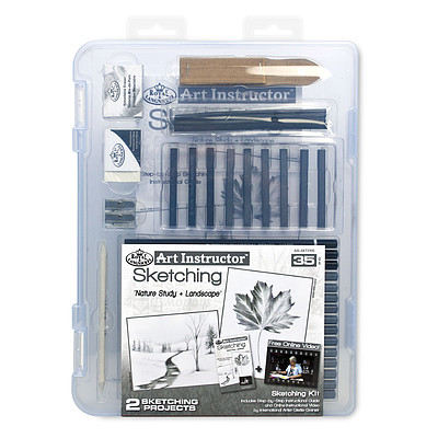 Royal Brush Manufacturing Small Sketching Clearview -- Drawing Kit -- #ais-skt3105