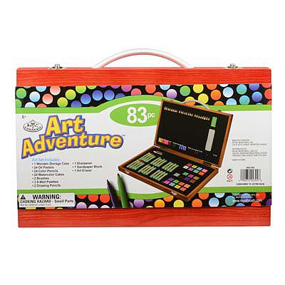 Royal Brush Manufacturing Art Adventure 83pc Set -- Art And Craft Miscellaneous -- #avs-543