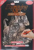 Royal-Brush Copper Engraving Art Kitten & Puppy Scratch Art Metal Art Kit #copf14