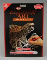 Royal-Brush Copper Foil Engraving Art Hawks Scratch Art Metal Art Kit #copf20