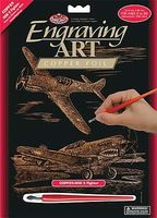 Royal-Brush Copper Foil Engraving WWII Fighter Scratch Art Metal Art Kit #copf25