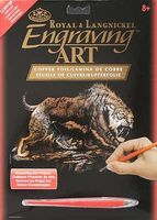 Royal-Brush Copper Foil Engraving Art Sabertooth Scratch Art Metal Art Kit #copf26