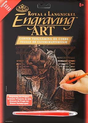 Royal Brush Manufacturing Copper Foil Engraving Art Rodeo -- Scratch Art Metal Art Kit -- #copf29