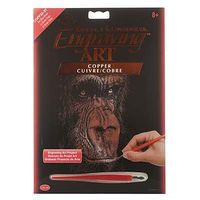 Royal-Brush Copper EA The Wise Simian Scratch Art Metal Art Kit #copf32