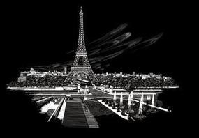 Royal-Brush Silver Foil Engraving Art Eiffel Tower Scratch Art Metal Art Kit #fam3