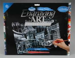 Royal-Brush Silver Engraving Art Hollywood Scratch Art Metal Art Kit #fam9