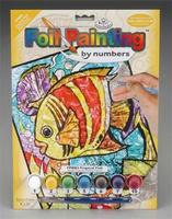 Royal-Brush Foil PBN Tropical Fish Scratch Art Metal Art Kit #fpbn-3