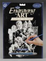 Royal-Brush Glow/Dark Engraving Art Monsters Scratch Art Metal Art Kit #glo11