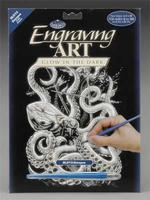 Royal-Brush Glow/Dark Engraving Art Octopus Scratch Art Metal Art Kit #glo13