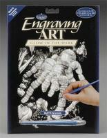 Royal-Brush Glow/Dark Engraving Art Tarantula Scratch Art Metal Art Kit #glo14