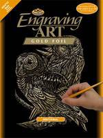 Royal-Brush Gold Foil Engraving Art Owls Scratch Art Metal Art Kit #golf13