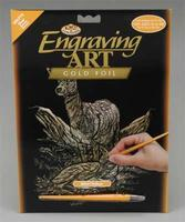 Royal-Brush Gold Foil Engraving Art Deer Scratch Art Metal Art Kit #golf15
