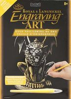 Royal-Brush Gold Foil Engraving Art Lion Gargoyle Scratch Art Metal Art Kit #golf27