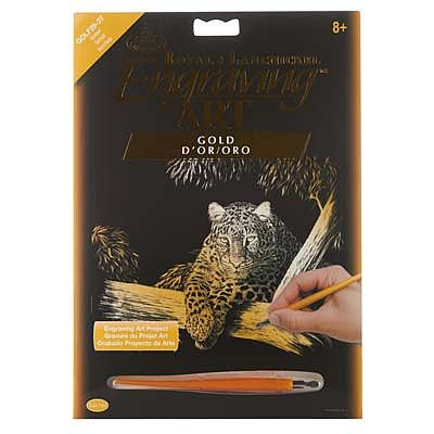 Royal Brush Manufacturing Gold EA Spotted -- Scratch Art Metal Art Kit -- #golf29
