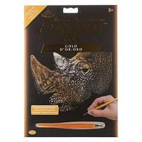 Royal-Brush Gold EA The Myth Maker Scratch Art Metal Art Kit #golf31