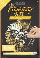Royal-Brush Mini Gold Foil Engraving Art Gargoyle Scratch Art Metal Art Kit #golmin-102