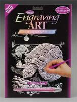 Royal-Brush Holographic Foil Engrv Sea Turtle Scratch Art Metal Art Kit #holo13