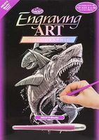 Royal-Brush Holographic Foil Engraving Sharks Scratch Art Metal Art Kit #holo15