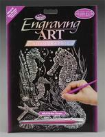 Royal-Brush Holographic Foil Engrv Seahorses Scratch Art Metal Art Kit #holo16