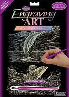 Royal-Brush HLGR Foil Dolphin Cove Scratch Art Metal Art Kit #holo18