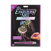 Royal-Brush Holographic EA Jellyfish Scratch Art Metal Art Kit #holo24