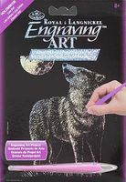Royal-Brush Mini Holographic Engraving Art Lone Wolf Scratch Art Metal Art Kit #holomin-106