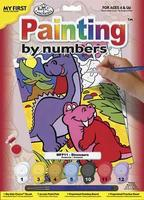 Royal-Brush My 1st PBN Dinosaurs 9x12 Paint By Number Kit #mfp11