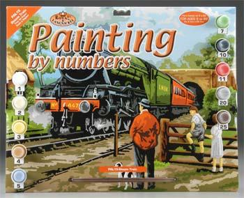 Royal Brush Manufacturing PBN Steam Train 15x11-1/4 -- Paint By Number Kit -- #pal15