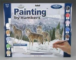 Royal-Brush PBN Wolves 15x11-1/4 Paint By Number Kit #pal19