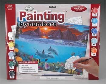 Royal Brush Manufacturing PBN Ocean Life 15x11-1/4 -- Paint By Number Kit -- #pal20