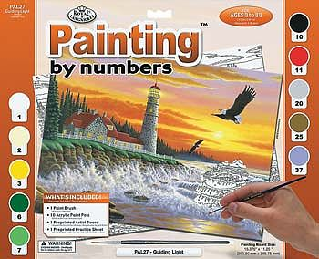 Royal Brush Manufacturing Adult PBN Guiding Light -- Paint By Number Kit -- #pal27