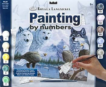 Royal Brush Manufacturing Adult PBN Wolves -- Paint By Number Kit -- #pal30