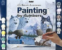 Royal-Brush Adult PBN Wolves Paint By Number Kit #pal30