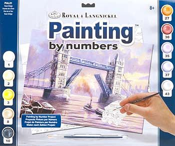 Royal Brush Manufacturing Adult PBN Tower Bridge -- Paint By Number Kit -- #pal31
