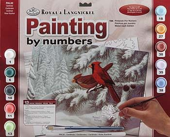 Royal Brush Manufacturing Adult PBN Cardinals -- Paint By Number Kit -- #pal32