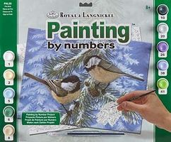 Royal-Brush Adult PBN Pine Birds Paint By Number Kit #pal33