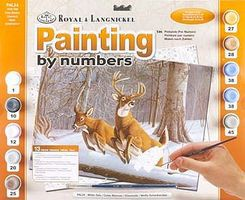 Royal-Brush Adult PBN White Tails Paint By Number Kit #pal34