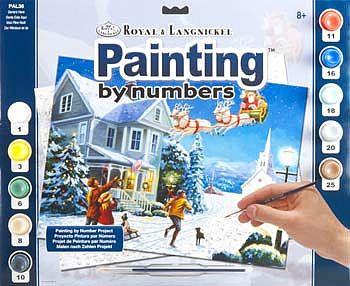 Royal Brush Manufacturing Adult PBN Santa's Here -- Paint By Number Kit -- #pal36