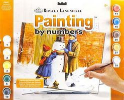 Royal-Brush Adult PBN The Snowman Paint By Number Kit #pal37