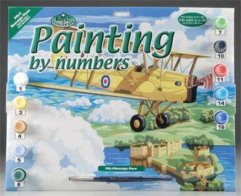 Royal Brush Manufacturing PBN Nostalgic Plane 15x11-1/4 -- Paint By Number Kit -- #pal4