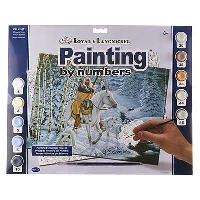 Royal Brush Manufacturing PBN Adult Large Whispering Winds -- Paint By Number Kit -- #pal42