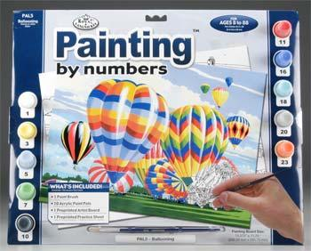 Royal Brush Manufacturing PBN Ballooning 15x11-1/4 -- Paint By Number Kit -- #pal5