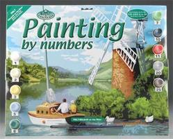 Royal-Brush PBN Windmill/River 15x11-1/4 Paint By Number Kit #pal7